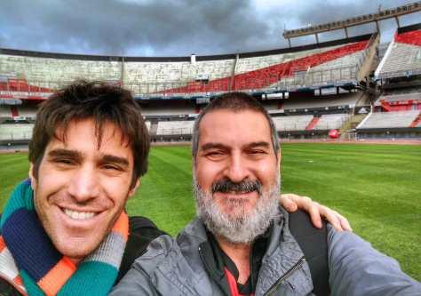 Con Sebastián Davidovsky. #Instameet en el Estadio Monumental, Buenos Aires, junio.