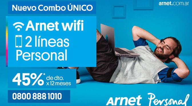 Telecom lanza «combo único» de conectividad que integra Arnet y Personal