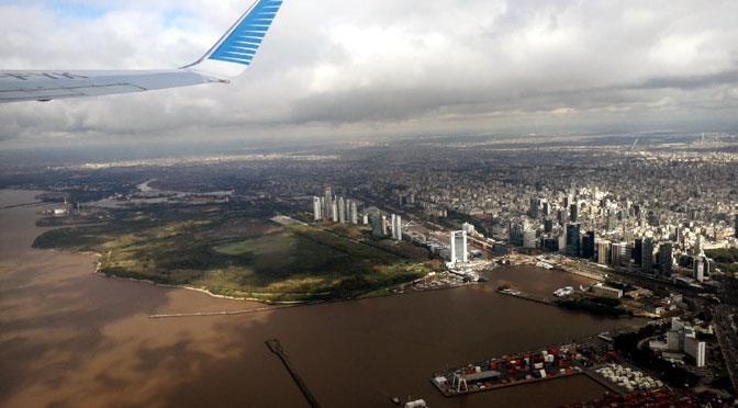 Radiografía de Buenos Aires desde un avión