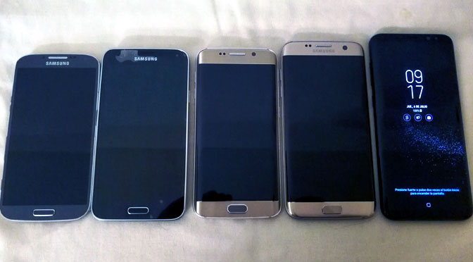 Reunión de la familia Galaxy de Samsung en casa