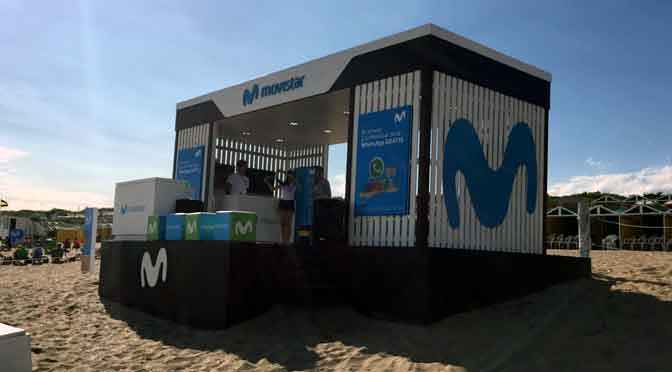 Actividades de Movistar en balnearios de Buenos Aires y Córdoba