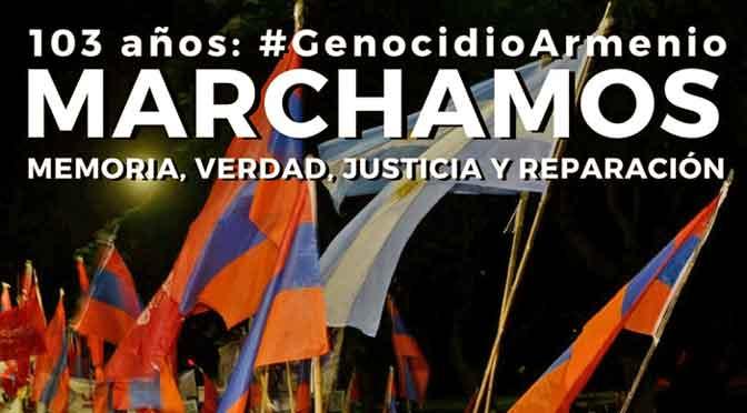 Actos y marcha por el 103º aniversario del genocidio armenio en Buenos Aires