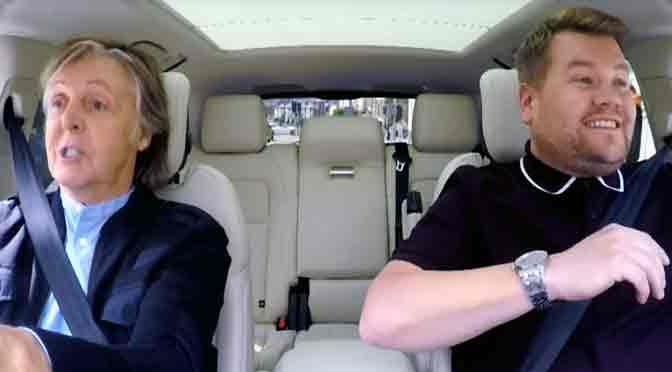 La mejor música para un viaje en automóvil: el «Carpool Karaoke» con Paul McCartney