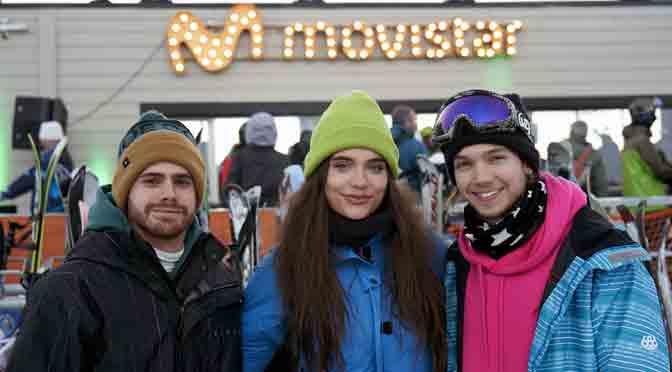 Movistar cerró el invierno con sus Ski Day & Night