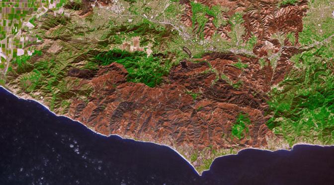 Los incendios de California desde el espacio