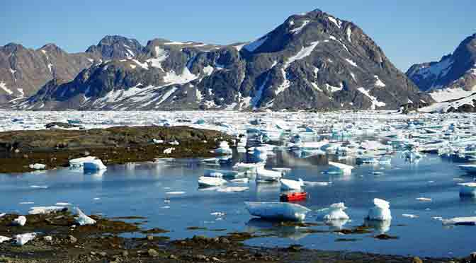 Deshielo en Groenlandia se multiplica por cuatro en una década
