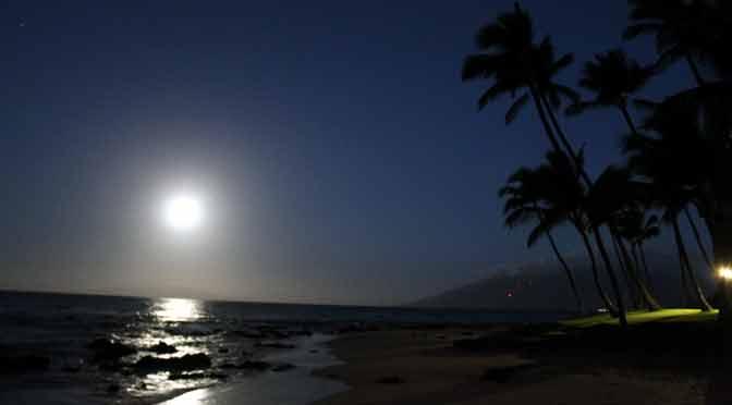 Mi primera Luna y amanecer en Hawái