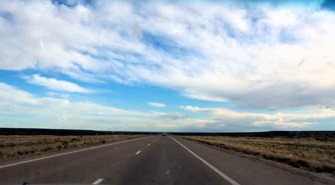 Paisajes patagónicos entre la península de Valdés y Trelew, Chubut