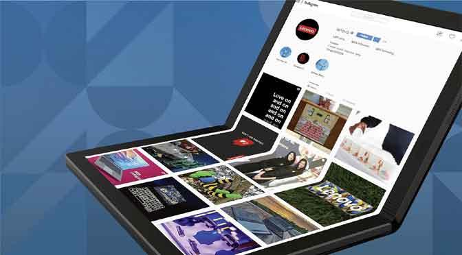 Lenovo presenta la primera computadora portátil con pantalla flexible