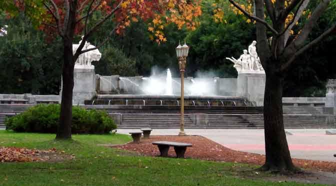 La plaza Alemania en Buenos Aires, desde un Moto G7 Power