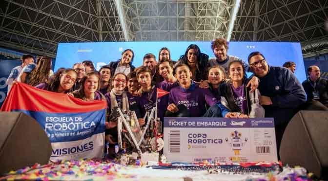Estudiantes argentinos compiten en el mundial de robótica de Dubai