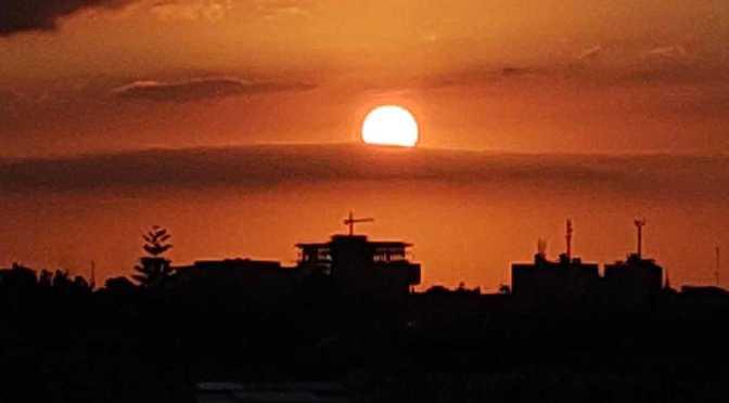 Evolución de un atardecer en Olivos, Buenos Aires, Argentina