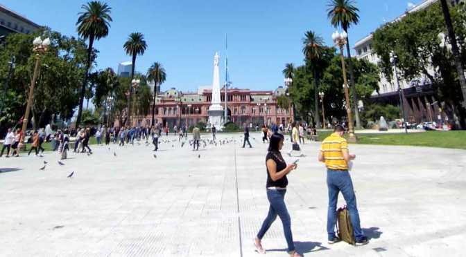 La plaza de Mayo de Buenos Aires antes del ASPO por el coronavirus
