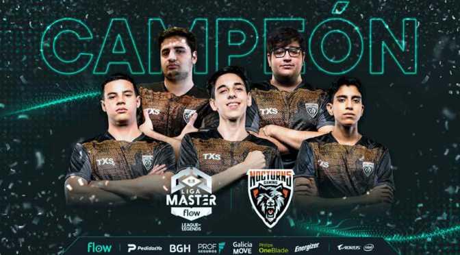 Nocturns Gaming, campeón de la Liga Master Flow Apertura