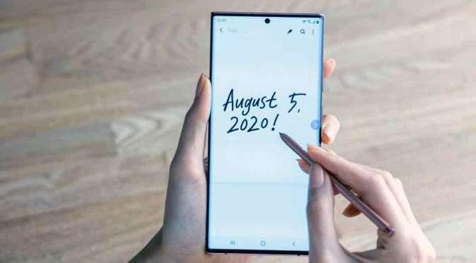 Samsung Galaxy Note 20 Ultra con pen