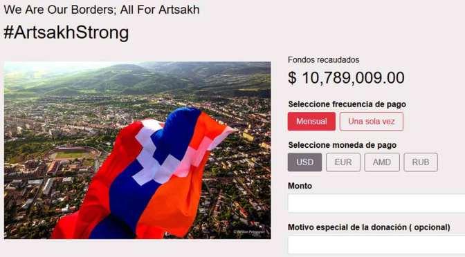 Guerra entre Armenia y Azerbaiyán: campaña de recaudación por Artsaj