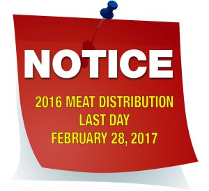 Notice - Meat Distribution