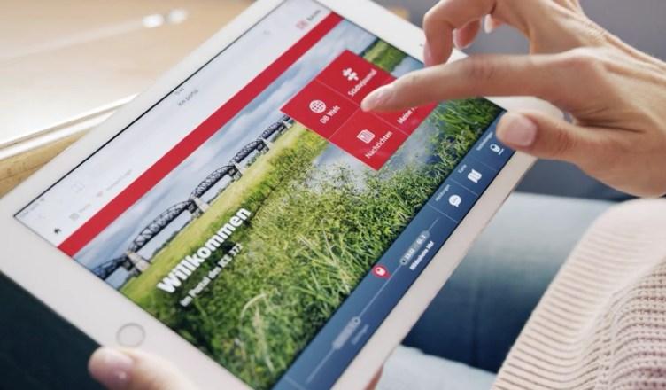 Das ICE Portal ist ein Infotainment-Angebot in den ICE-Zügen, welches sich als Startseite im jeweiligen Browser öffnet. (Foto: © DB AG)