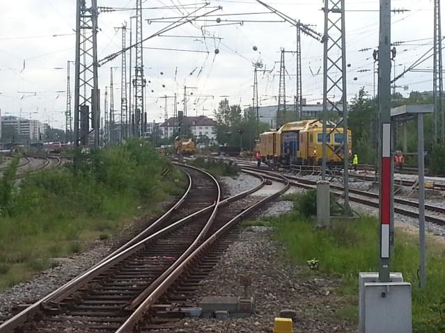 Bauarbeiten am Münchner Ostbahnhof. (Foto: © Bahnblogstelle)