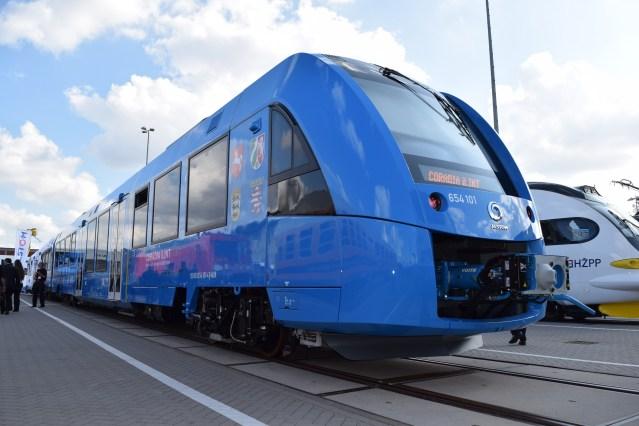 Alstom präsentiert auf der InnoTrans den Coradia iLint, den ersten Zug mit Brennstoffzellenantrieb. (Foto: © Bahnblogstelle)