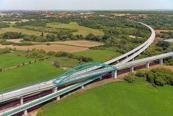 Saale-Elster-Talbrücke, Gabelung, VDE 8, Berlin München, ICE, DB