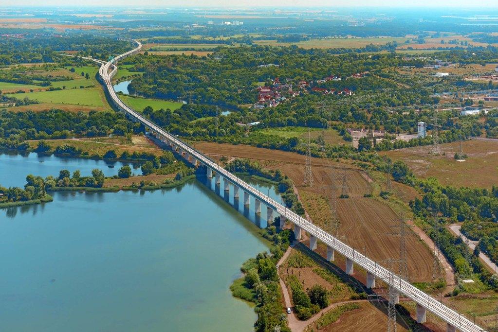 Saale-Elster-Talbrücke, VDE 8, Berlin München, ICE, DB