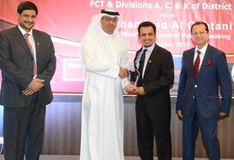 Information Minister honours Saudi toastmasters world champion