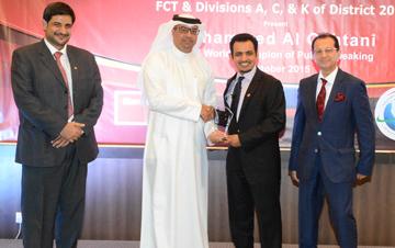 Information Minister honours Saudi toastmasters world champion