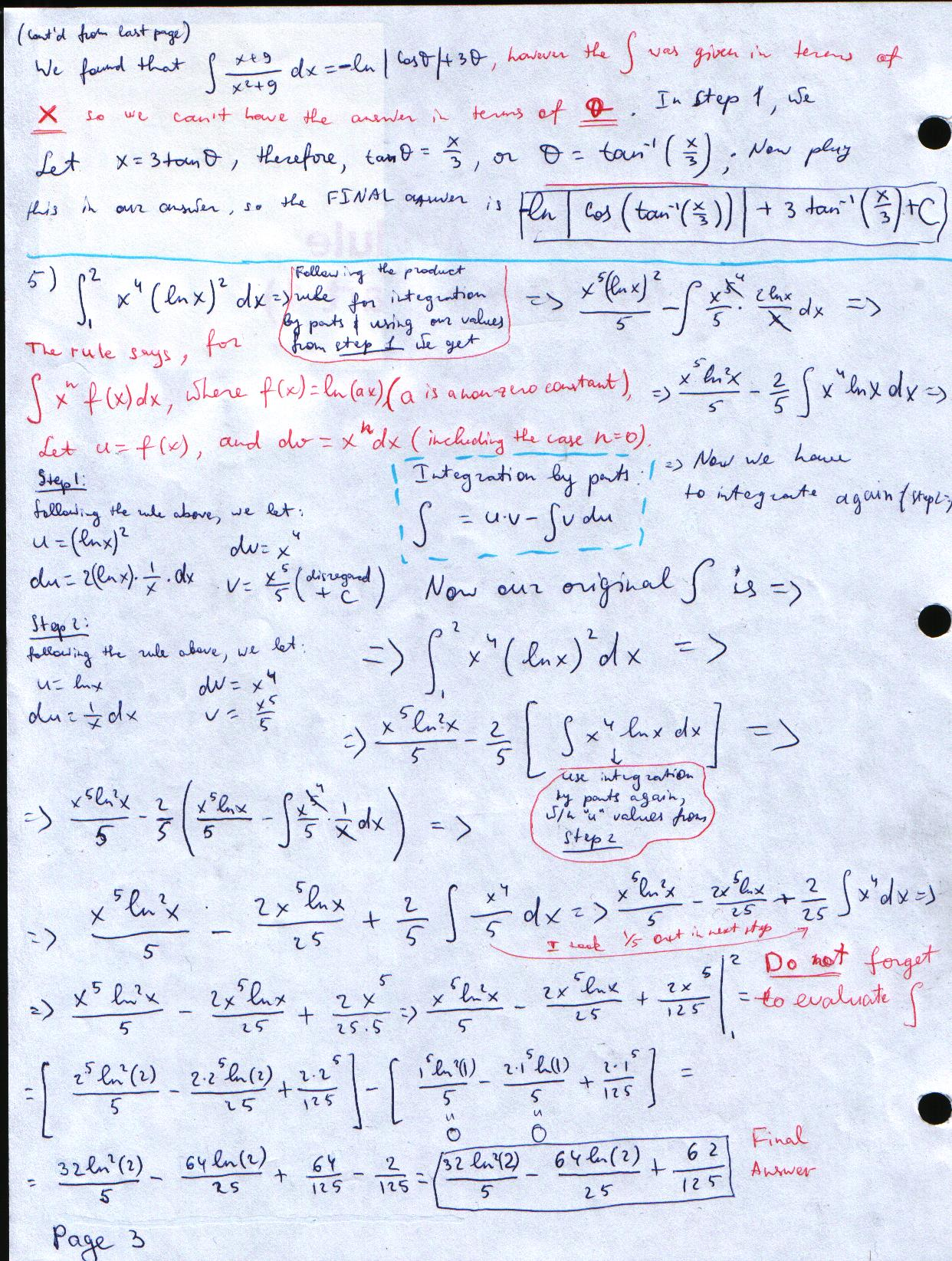 Calculus Review Sheet Problems Solutions 12 17 09