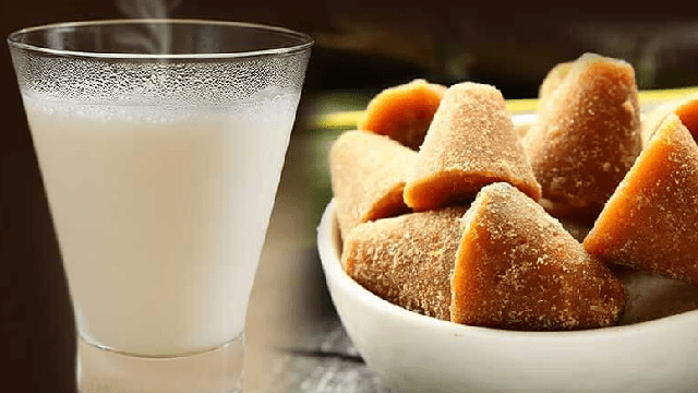 jaggery and hot milk