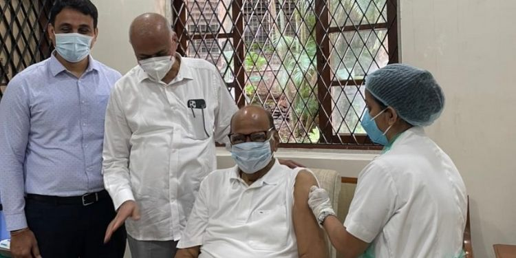 corona-vaccine-sharad-pawar-took-second-dose-vaccine-special-thanks-person