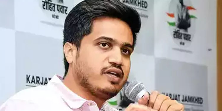 Rohit Pawar ugc for place banner of free vaccinations rohit pawar target to ugc