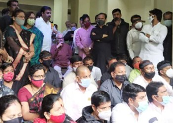 Pune News Silent agitation of all the three parties in the Mahavikas Aghadi on the issue of surveillance by the Central Government