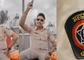 Maharashtra Police amravati police personnel suspended after video with revolver went viral