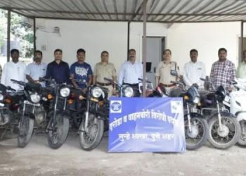 Pune Crime Branch Police   Two persons arrested for stealing bullets and two bikes