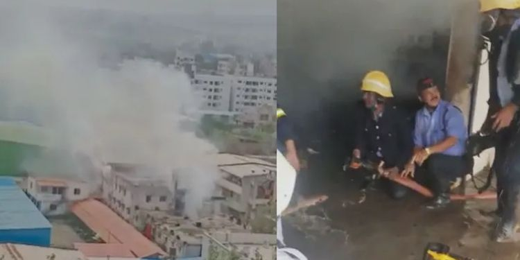 Pune Fire News | Terrible fire at a company in Pune, atmosphere of fear due to 'explosion'; Firefighters arrive at 8 bomb scene (video)