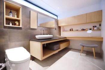 [50年老屋翻新] 我的主浴❤廁所/衛浴大改造,結合超強收納與化妝台的衛浴空間-室內設計裝潢