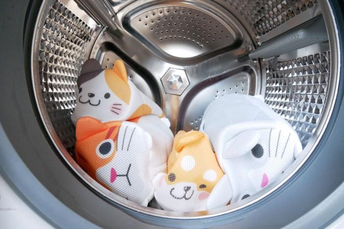 [啾團] 獻給辛苦的媽媽!喜白鞋-日本洗鞋袋讓鞋子不需要彎腰洗刷刷+好好用的日本SOWA 創和-可愛動物洗衣袋)