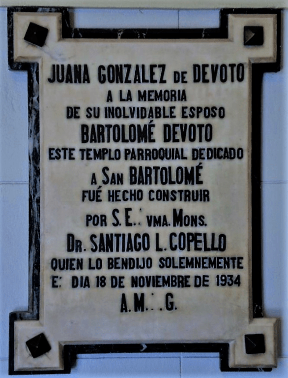 Placa Juana Gonzalez san bartolome