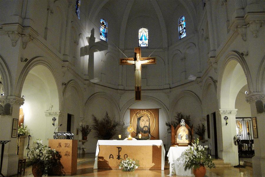 cristo rey detalle altar