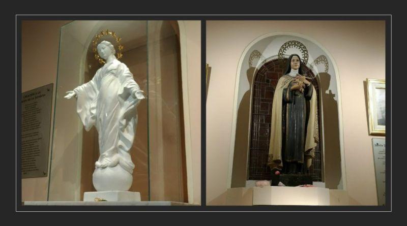 santa teresita y la virgen de la sonrisa