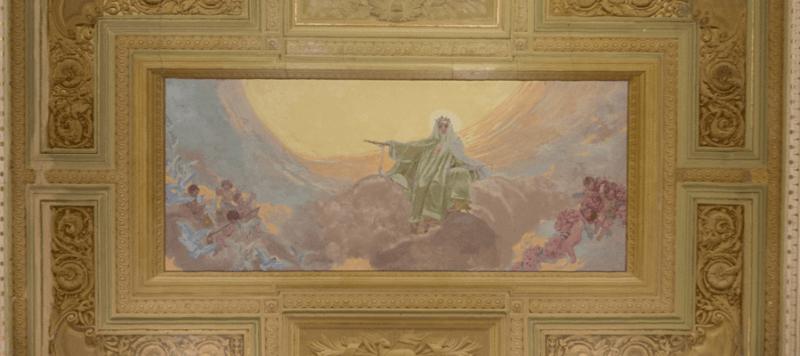basilica san antonio de padua pintura en el techo de la nave principal