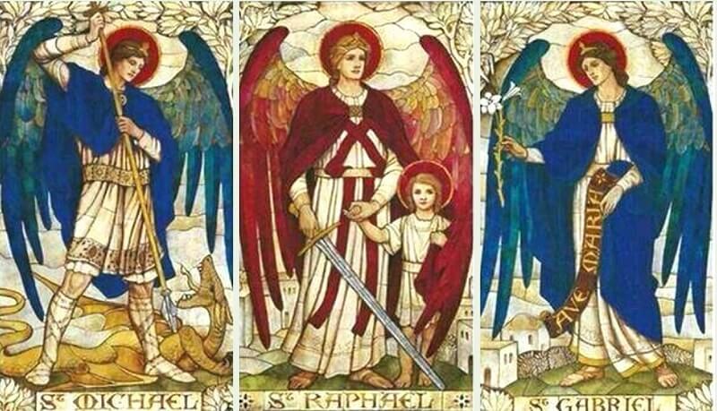La historia de los arcángeles Miguel, Gabriel y Rafael