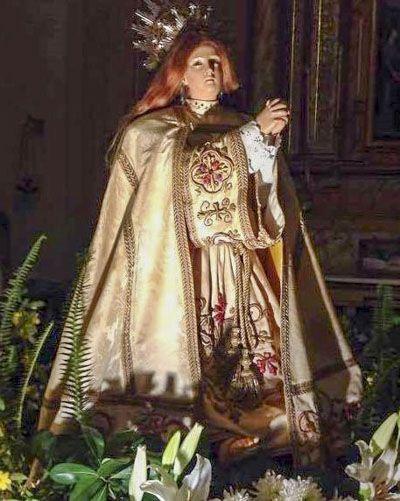 la imagen de Santa María Magdalena original de la capilla
