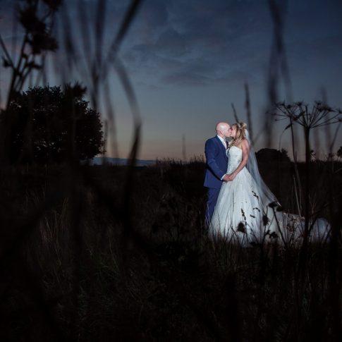 Moorland portrait weddings near Leeds wedding photograph