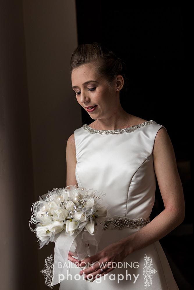 Katie in her wedding dress