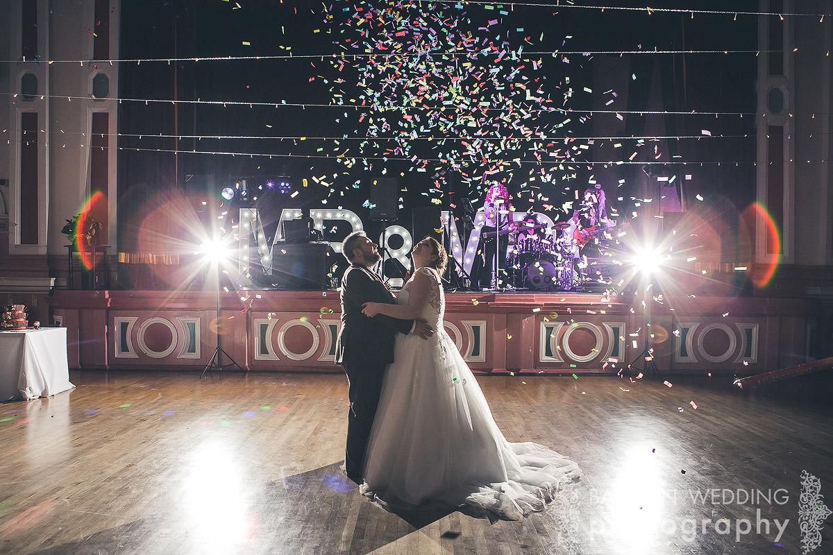 Victoria Hall Saltaire wedding celebration