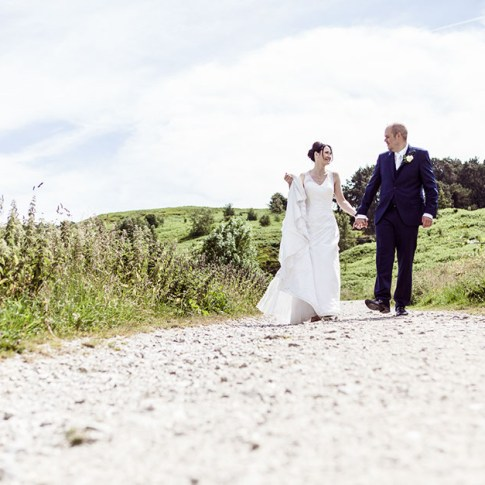 Ilkley Moor wedding photo