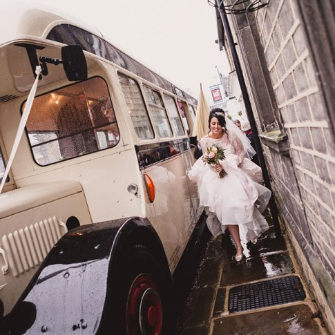 Wet wedding day Bingley All Saints Church