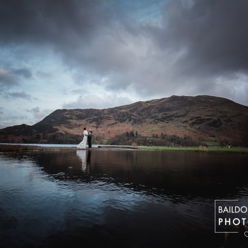 Dramatic landscape wedding photos